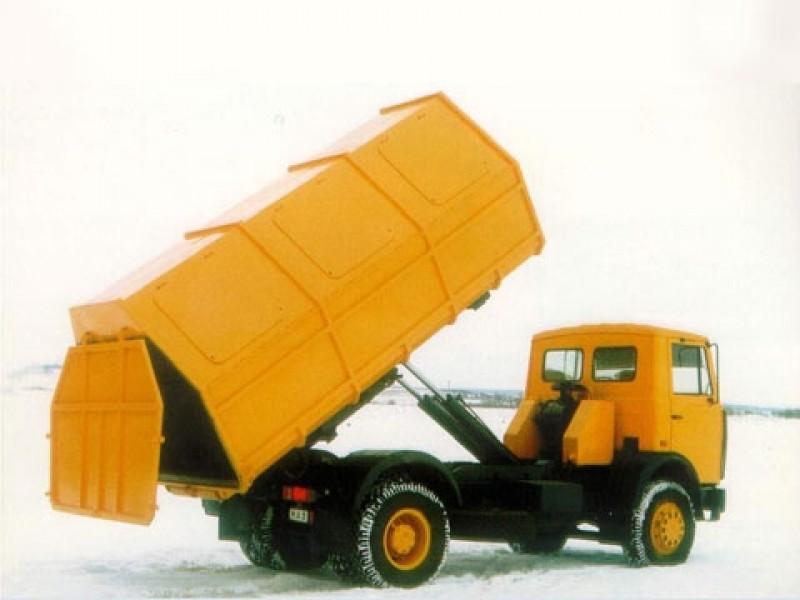 Контейнерный мусоровоз с крюковым механизмом КО-452-06