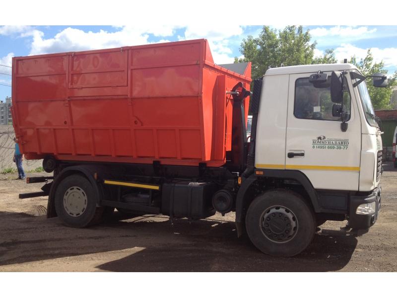 Контейнерный мусоровоз с крюковым механизмом КО-452