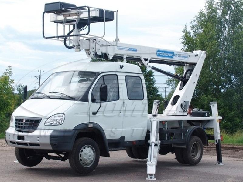 Телескопический автогидроподъемник (автовышка) АГП-20Т-33106