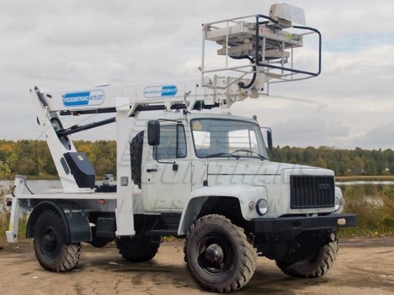 Телескопический автогидроподъемник (автовышка) АГП-22Т-33081