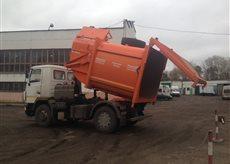 Особенности функционирования мусоровоза с боковой загрузкой маятникового типа на шасси МАЗ-5550В2